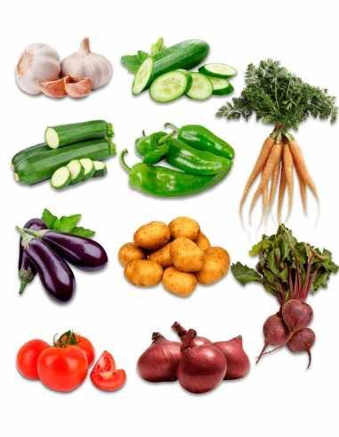 Caja verduras ecológicas de temporada